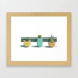 Suculentas Framed Art Print