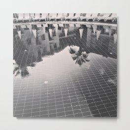 Palm Tree reflection Metal Print