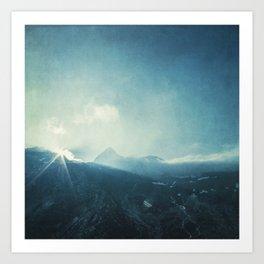 LightFall - Sunrise over the Italian Alps Art Print