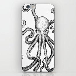Stippled Octopus  iPhone Skin