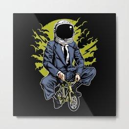 Bike To The Moon Metal Print