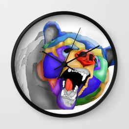 Geo Kodiak Bear Wall Clock