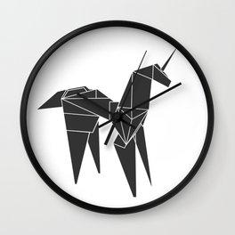 Blade R. Unicorn, Origami Artwork for Wall Art, Prints, Posters, Tshirts, Women, Men, Kids Wall Clock