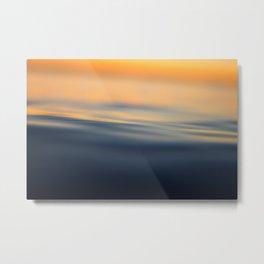 Calm sea at sunset time Metal Print