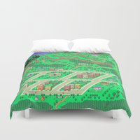 earthbound Duvet Covers featuring Earthbound by Fred Vilair