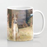 german Mugs featuring German Shepherds by Trudi Simmonds