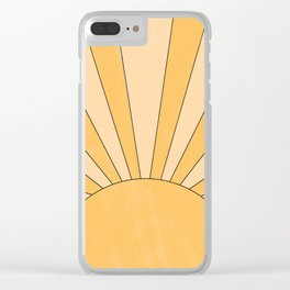 yellow abstract sunrise Clear iPhone Case