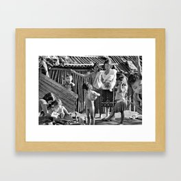 amerindian family  Framed Art Print