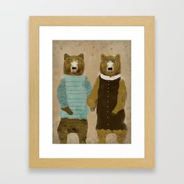 the happy couple Framed Art Print