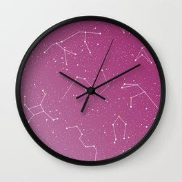 Stars on the sky constellations Wall Clock