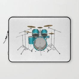 Green Drum Kit Laptop Sleeve