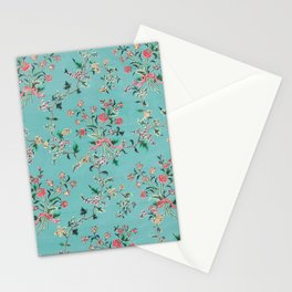 Length of painted silk mid-18th century Chinese Stationery Cards