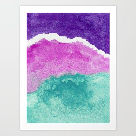 Mermaid Water Art Print