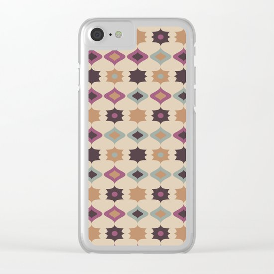 Retro pattern . Pastel . Clear iPhone Case