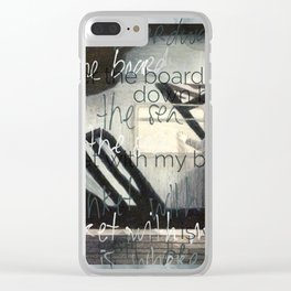 Down By The Sea Clear iPhone Case