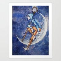 Jack Frost and The Moon Art Print