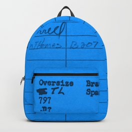 Library Card 797 Blue Backpack