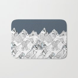 At night in the mountains Bath Mat