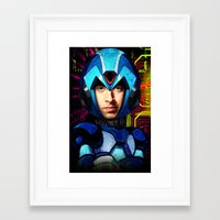 megaman Framed Art Prints featuring Megaman wolowitz by seb mcnulty