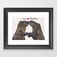 Capy Valentines Framed Art Print