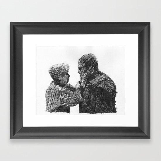 Jason and Mrs Voorhees Framed Art Print