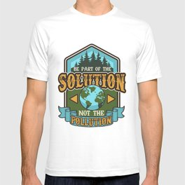 Earth Day Be The Solution Cute Vintage Recycling  T-shirt