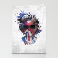 deadmau5 Stationery Cards featuring Queen Listen Music by Sitchko Igor