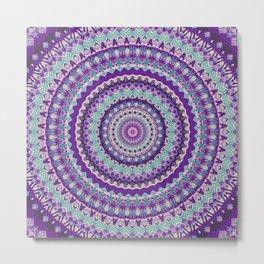 Iris Passion Mandala Metal Print