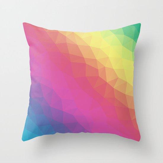 Spectrum Tris Throw Pillow