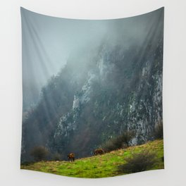 Mountains landscape Wall Tapestry