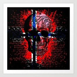 Skull circuit (norway-flag) Art Print