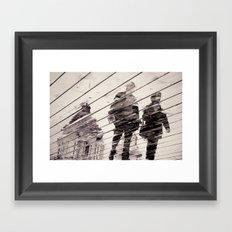 Rainy Day on the Promenade Framed Art Print