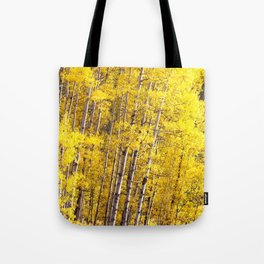 Yellow Grove of Aspens Tote Bag