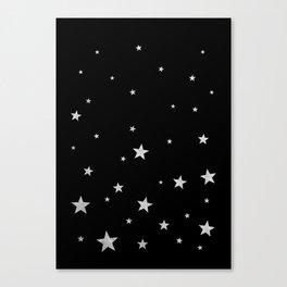 Silver Stars Canvas Print
