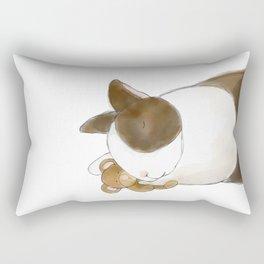 Bunny and Teddy Rectangular Pillow