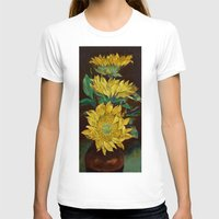 sunflowers T-shirts featuring Sunflowers by Michael Creese