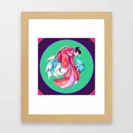 Maiko and Kitsune Framed Art Print