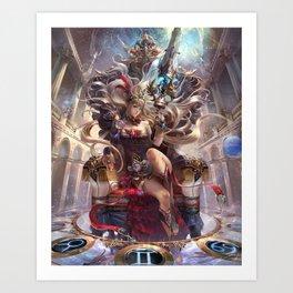 Polaris Queen Cassiopeia Art Print