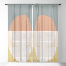 Abstract 02 Sheer Curtain
