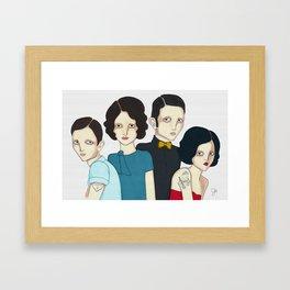Family picture Framed Art Print