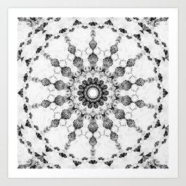 Damask design Art Print