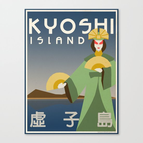 Kyoshi Island Travel Poster Canvas Print
