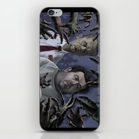 shaun of the dead iPhone & iPod Skins featuring Shaun of the Dead Caricature by Richtoon