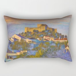 dawn at Belver castle, Portugal Rectangular Pillow