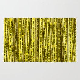Crime scene / 3D render of endless crime scene tape Rug