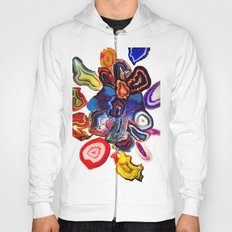 Semi-Precious Agate Burst, Earth's Core Flowers Hoody