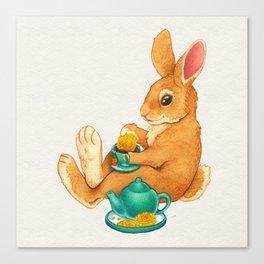 Tea Time Bunny Canvas Print