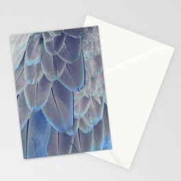 Silver Feathers Stationery Cards