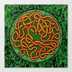 quozarrah jungle serpent mandala Canvas Print