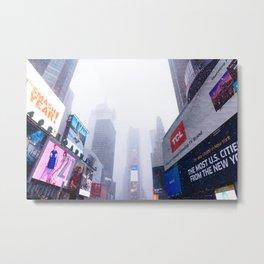 Snowy Times Square, NYC 2 Metal Print